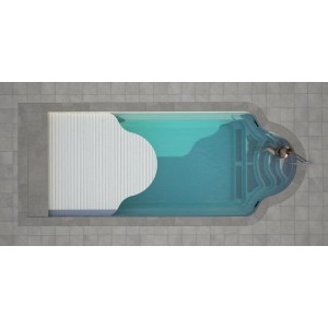 Composite pool GARDA 800 SET with LUXE integrated cover