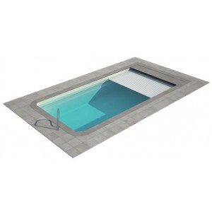 Composite pool Aurora SET with LUXE intergrated cover