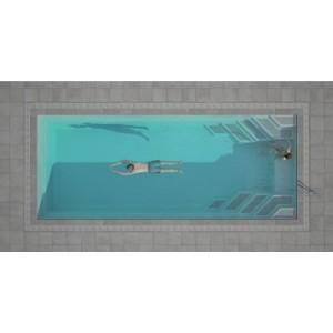 Stiklo pluošto baseinas WANAKA 850 mirror line su uždengimu