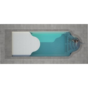 Composite pool GARDA 950 SET with LUXE integrated cover