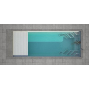 Composite pool WANAKA 850 SET with LUXE intergated cover