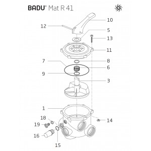 Spring for 6 way valve R41 and R51
