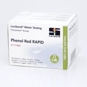 Testerio tabletės Phenol Red (pH), 10vnt., 1 lap.