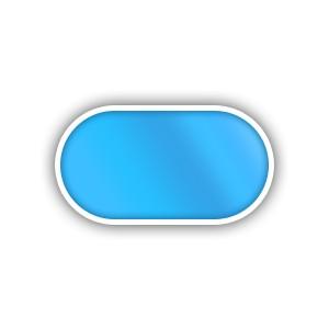 Ovalo formos plastikinis baseinas 2.9-8.0